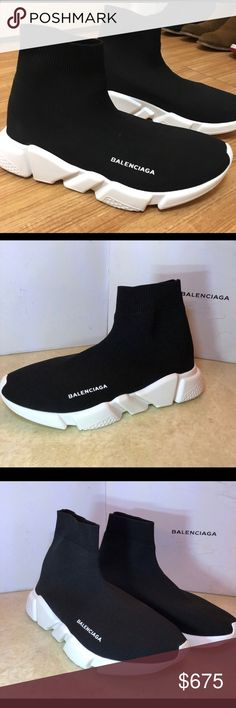 b0c51d6a5e641 Balenciaga Speed Trainers I bought these on Posh and unfortunately they are  too big. If you are a true size 8 I would recommend these for you!