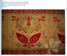 book from the Textile Museum in Washington DC : Embroidery of the Greek Islands & Epirus Region Textile Museum, Bed Tent, Embroidery Fashion, Vintage Textiles, Greek Islands, Hama Beads, Cross Stitching, 18th Century, Folk Art