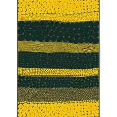 Marimekko Green/Yellow Jurmo Fabric $48.00
