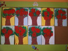 Stamping apple trees craft