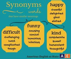 The 78 best synonym images on Pinterest   Learning english, English ...
