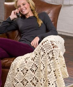 Lacy Crochet Throw: free easy level pattern
