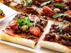 Peltipizza Cheesesteak, Vegetable Pizza, Mashed Potatoes, Beef, Dinner, Baking, Vegetables, Ethnic Recipes, Koti