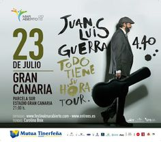 * * * Juan Luis Guerra in Concert, Las Palmas * * *  Enjoy the great music of Juan Luis Guerra Live on the 23rd of July at the Stadium in Las Palmas  #latin #music #concert #JuanLuisGuerra #laspalmas #Grancanaria #canaries #canaryislands #spain  #concierto #musica #latina #JuanLuisGuerra #estadio #laspalmas #grancanaria #canarias #islascanarias #españa    Whats on in Gran Canaria - Google+