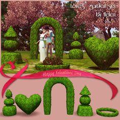 Helen-sims: TS3 Love's garden set