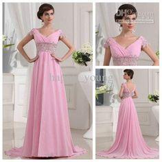 Wholesale Amazing Style Graceful Off-Shoulder Ruffle Beaded A-line Pink Chiffon Prom Dress 2012 Long, Free shipping, $109.76-126.59/Piece | DHgate