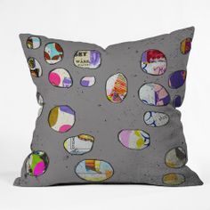 Natalie Baca Circles At Twilight Throw Pillow   DENY Designs Home Accessories