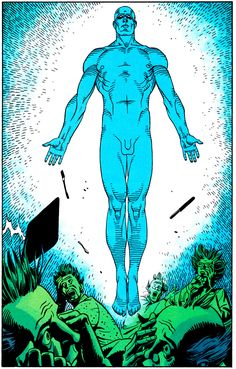 """Their bleached faces stare up at me, pale and insubstantial in the sudden flare of ultraviolet. Sunburn in November.""  Alan Moore Dave Gibbons Watchmen"