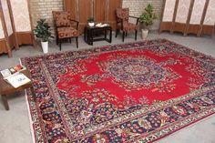 "Vintage Persian Living Room Oushak Boho Decor Hooked Turkish Rug, 9'11"" x 13'4"", Code: 071809 large rug Large Rugs, Small Rugs, Boho Decor, Bohemian Rug, Farmhouse Rugs, Tribal Rug, Hand Knotted Rugs, Lovers Art, Vintage Rugs"