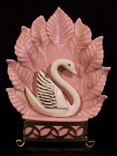 Miramar, Circa 1956 - Ceramic Swan Figure/TV Lamp