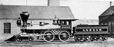 London locomotive, built in 1871 by Mason Locomotive Works for California Pacific Railroad