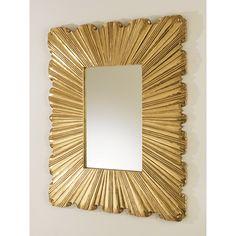 "Linen Fold Mirror / Brass / 39.25"" T - DESIGN & BOARD, INC."