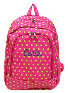 Monogram Polka Dot Backpack | Personalized