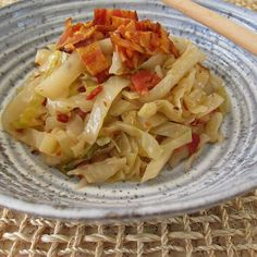 Bacon Braised Cabbage with Caraway. Sweet and sour flavor notes are complemented with bacon and caraway. Delicious!