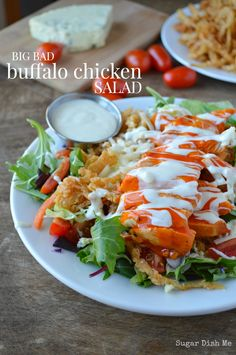 Big Bad Buffalo Chicken Salad! This looks incredibly delicious!
