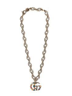 Gucci Sterling Silver Britt Necklace