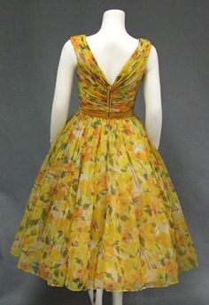 Authentic vintage clothing and eyewear from the and Gorgeous selection of vintage evening wear, vintage prom dresses and vintage wedding dresses, plus suits, sun dresses and more! Stylish Dresses For Girls, Frocks For Girls, Elegant Dresses, Pretty Dresses, Simple Dresses, Dress Design Patterns, Frock Patterns, Dress Neck Designs, Girls Frock Design