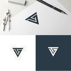 New design ideas logo icons Ideas Geometric Graphic Design, Geometric Logo, Cv Inspiration, Graphic Design Inspiration, Design Ideas, V Logo Design, Branding Design, Design Art, Modelo Portfolio