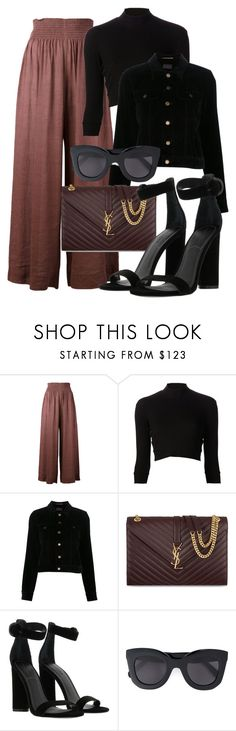 """Sem título #2293"" by mariandradde ❤ liked on Polyvore featuring Forte Forte, Again, Yves Saint Laurent, Kendall + Kylie and CÉLINE"