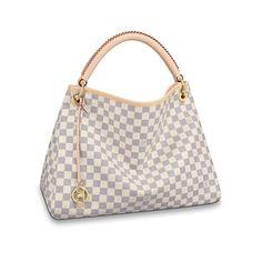 Damier Azur Canvas Handbags Shoulder Bags & Totes Artsy MM | Louis Vuitton ®