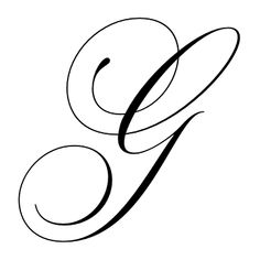 Latin Capital Letter G. Calligraphy