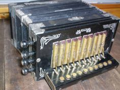 Vintage International Accordion Squeezebox Made In Saxony Early 1900's VG++ LQQK #Internatonal #Accordion #Collectibles #VintageInstruments