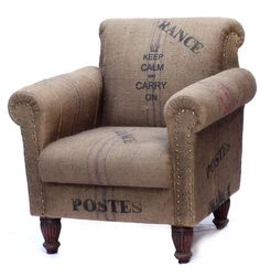 script on furniture is a hot new trend for the 2012 season the keep calm burlap furniture