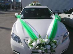 wedding car decoration #2 Homecoming Decorations, Wedding Car Decorations, Flower Decorations, Wedding Rentals, Wedding Cars, Wedding Bells, Wedding Ceremony, Floral Wedding, Wedding Bouquets