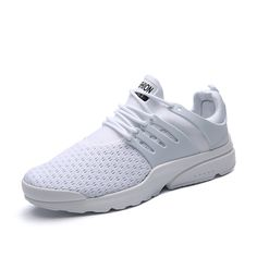 pretty nice 60589 b9fb8 2017 Men s Running Shoe Breathable Light Walking Jogging  font  b Sneakers   b   font   font  b White  b   font  Red Mesh Sport Trainers ...