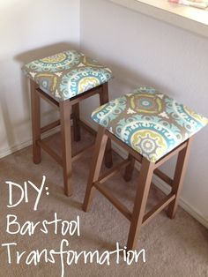 re-do your old bar stools... easy and cheap!