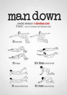 Featured: Man Down Workout #darebee #workout #fitness