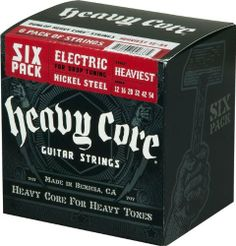 Dunlop Nickel Plated Steel Heavy Core Electric Guitar Strings Heaviest 6 Pack by Jim Dunlop. $26.80. These Dunlop nickel-plated Heavy Core strings are uniquely designed for the player that enjoys higher tension at standard tuning or normal tension at dropped tunings. Dunlop's proprietary core-to-wrap ratios are meticulously calculated so the player can really dig in while retaining sound fundamentals. Heavy Core steel strings, like all Dunlop guitar strings, are man...