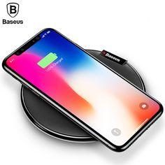 De Baseus Cargador Inalámbrico QI, placa de Carga Para iPhoneX 8 Samsung nota8 S8 S7 S6 Edge Cargador de Escritorio Rápido de Carga Inalámbrica cargador