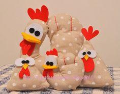 Spiegazioni in italiano per fare gallinelle pasquali in stoffa