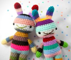 new pair of rainbow rabbits just in time for easter fun :)