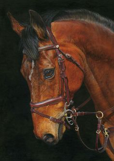 I love this painting.  Looks like one of our horses