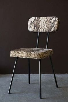 Leather, Fabric and Wooden Dining Chairs | Rockett St George Rockett St George, Patterned Chair, Dark Interiors, Table And Chairs, Wooden Dining Chairs, Table Accessories, Minimalist Decor, Lampshades, Snake Print