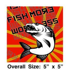 Fish More Work Less Walleye Propaganda Vinyl Decal Sticker Pole Tackle Box Tackle Box, Vinyl Decals, Sticker, Fishing Equipment, Ebay, Decals, Fishing Rigs, Fishing Tackle, Decal