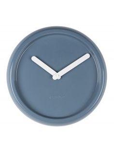 Zuiver+-+Ceramic+Time+Klok+-+Blauw #clockwork #interior #home #decoration #myhomeshopping