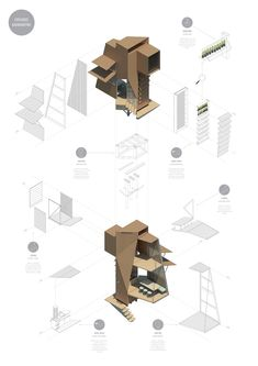 exploded axonometric.