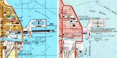 Soviet cold-war maps. Navy Pier in military-grade detail.