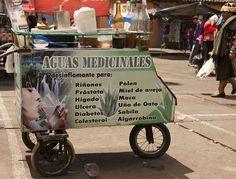 Herbal Medicine wagon at Gualaceo