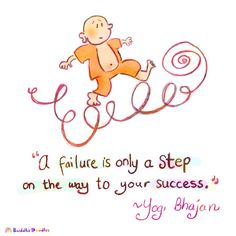 """{Today's Buddha Doodle} up and down, around...""""A failure is only a step on the way to your success."""" ~Yogi Bhajan"""