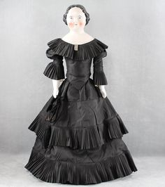 Early c1860s Kestner Pink Tint China Head Lady Doll Large Size from joysdolls on Ruby Lane