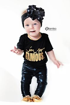 I'm So Famous™ Baby Onesie by Lola and by LolaandDarlaDesigns