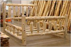Trapper Cedar Log Bed