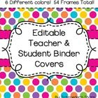 Included in this download are 54 unique (and EDITABLE) binder covers for teacher and student use!  Simply add your own text, print, and go!  Bright...