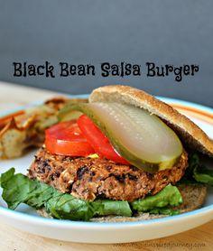 Black Bean Salsa Burger