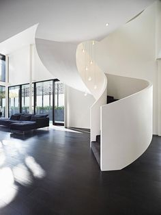 ♂ Masculine and elegant corner of the living room and stair in the Contemporary Verdant Avenue House