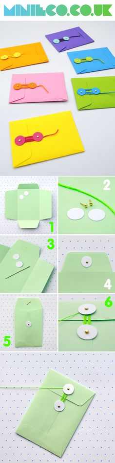 #DIY string-tie envelopes #howtomake #comefare #faidate @Kate Lilley